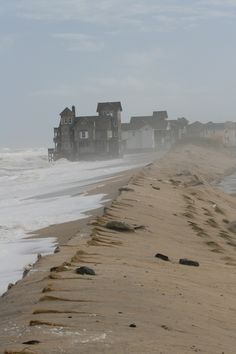 Gray day on the beach in Rodanthe, North Carolina. Go to www.YourTravelVideos.com or just click on photo for home videos and much more on sites like this.