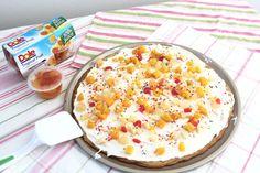 Rica Pizza con galleta y frutas Dole #VidaDole #ad