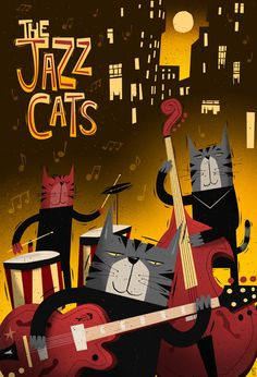 minyau-mjauu  The Jazz Cats by Peter Donnelly, via Behance