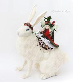 The Holly Faerie & the Hare — Lavender & Lark