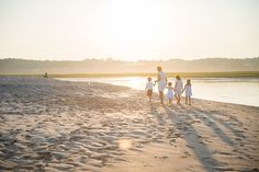 Maine family beach portrait on Drakes Island photographed by Brea McDonald Photography. Nantucket Beach, Family Beach Portraits, Extended Family, New Hampshire, Maine, Island, Water, Photography, Outdoor