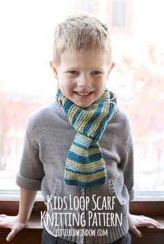 Make a simple Loop Scarf that is comfy and will actually stay ON your little one this winter! via littleredwindow.com