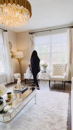 Living Room Decor Inspiration, Decor Home Living Room, Glam Living Room, Living Room Interior, Living Room Designs, Romantic Living Room, Dressing Room Design, Diy Apartment Decor, Apartment Living