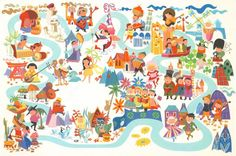 It's a Small World Postcard, designed by the fabulous Shag.