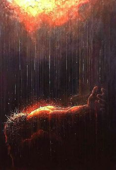 """The Tears of God"" - Yongsung Kim Moving Prophetic Art painting. Christian Images, Christian Art, Jesus Art, Jesus Christ, Savior, Catholic Art, Religious Art, Jesus Loves Us, Jesus Painting"
