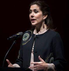 04.02-2017. Crown Princess Mary presented Danish Cancer Society's 2018 honor award to Prime Minister Lars Løkke Rasmussen and Bent Hansen with a ceremony held at Royal Danish Playhouse in Copenhagen city of Denmark.