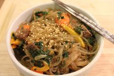 Korean Stir Fried Noodles (Chapchae) Recipe | Hip Foodie Mom
