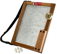 Percussion Plus Washboard, Washboard complete with thimbles, a woodblock, bell and strap at Hobgoblin Music