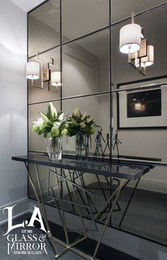#GlassIdeas Feel like you home entrance hallway feels way too tight and narrow? Try putting up some mirrors to give the illusion of space. We assure you'll stop feeling claustrophobic. #LAGlassMirror