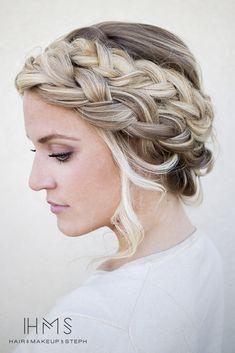 Bridal hairstyle.