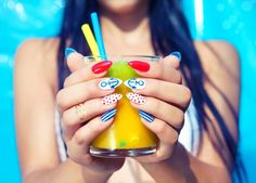 We at Majestic beauty Academy teaching you the cute, quirky and incredibly unique nail designs that are inspiring the hottest nail art trends of this season. Apply now to build your career! Nail Art Technique, Art Beauté, Cute Summer Nails, Nagellack Trends, Leaf Tv, Manicure Y Pedicure, Hot Nails, Gel Nail Designs, Nails Design