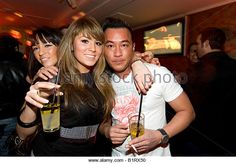 People partying in the China Lounge in the Reeperbahn red-light district, Nobistor, Sankt Pauli, Hamburg, Germany - Stockbild