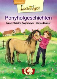 3. Lesestufe: Lesetiger -  Ponyhofgeschichten: Auf dem Ponyhof ist immer etwas los: Maja wagt ihren ersten Sprung auf Lexa, Elli überführt mit ihrem Pony Foxy einen Dieb und Tina tut alles, um ihr geliebtes Pony Romy vor dem Verkauf zu retten. Nur Tim hat überhaupt nichts mit den niedlichen Vierbeinern am Hut. Doch dann passiert ein Unfall und Tim merkt: Ponys sind einfach bärenstark!