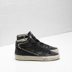 Idées et Tendances Basket 2017 Image Description Scarpe Golden Goose Donna  Saldi – Golden Goose Slide Sneakers In Black Calf Leather With Studs And  Leather ... 4bfd32d3493