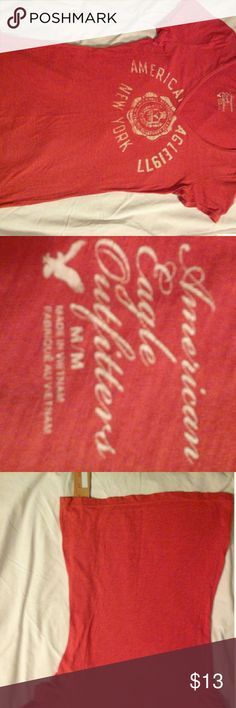 American Eagle logo tee shirt. Red size M Pre-owned American Eagle T shirt in excellent condition. Red size M. View pictures for measurements. American Eagle Outfitters Tops Tees - Short Sleeve