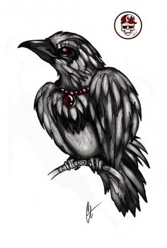 Raven tattoo on sketch (on paper) new school by Gatrenchy Raven Tattoo, Paper News, Artwork Design, Tattoo Sketches, School Design, Tattoo Photos, Tattoos, Ravens, Piercing