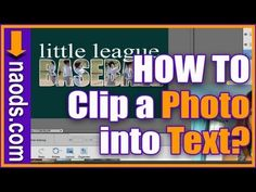 How to Clip Photos Inside Text with Photoshop Elements