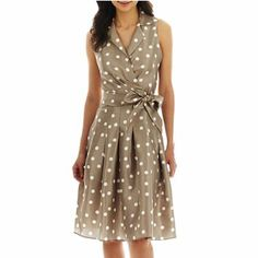 Jessica Howard Polka Dot Shirt Dress