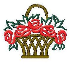 Basket Of Flowers Design 047 Nanees