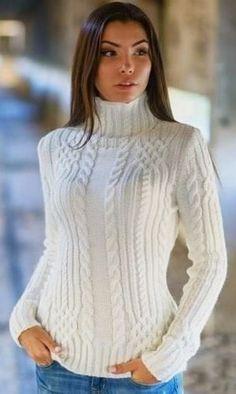 Белый свитер с аранами схемы. Схемы вязания свитеров с аранами | Домоводство для всей семьи
