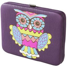 Xhilaration® Owl Printed Wallet - Purple ($9.99) ❤ liked on Polyvore