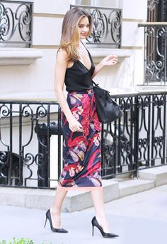 What should I wear to a casual wedding? via @WhoWhatWear Modern Separates Pair a structured skirt with a cute top. Try a high-waisted flare skirt or sharp pencil, and tuck in a little tank or cap-sleeve top.