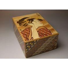 6寸23回秘密箱 象嵌歌麿 小寄木 寄木細工(日本伝統工芸品)の技を継承する箱根いづみや|商品詳細