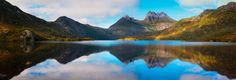 Cradle Mountain Reflections - Cradle Mountain reflections on Dove Lake