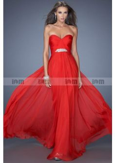 Pretty A-Line Strapless Sweetheart Beaded Pleated Zipper Back Floor-Length  Prom Dresses fc8d1fa19694