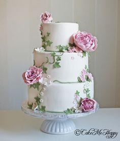 Bröllopstårta romantisk