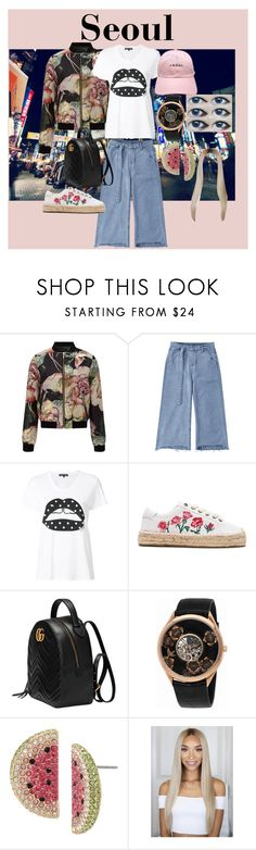 """""""Seoul"""" by mrsdman-kyle on Polyvore featuring Miss Selfridge, Markus Lupfer, Soludos, Gucci, Vacheron Constantin, Betsey Johnson and 10"""
