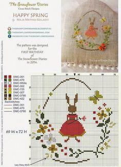"""Милые сердцу штучки: """"Пасхальная вышивка от The Snowflower Diaries"""" (Венгрия)"""