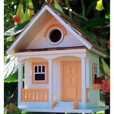 Garden Bazaar HBB-1003 Peaches and Cream Cottage Birdhouse -- Want to know more, click on the image. (This is an affiliate link) #BirdandWildlifeCare