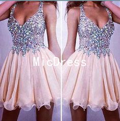 Women+Handmade+Beading+Short+Chiffon+Homecoming+Dresses+Sexy+Ruched+Mini+Homecoming+Dresses+2015+For+Party    This+dress+could+be+custom+made,+there+are+no+extra+cost+to+do+custom+size+and+color.+  Description+of+short+prom+dress+  1,+Material:+chiffon,+lace,+elastic+silk+like+satin,+pongee.+  2,...