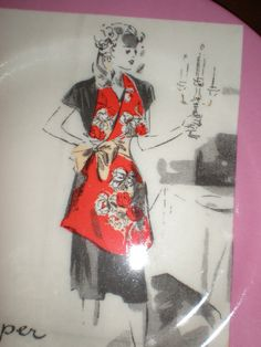 Cipa Italy Porcelainne 1950s Housewife Plate Set by JeannieBelle, $25.00