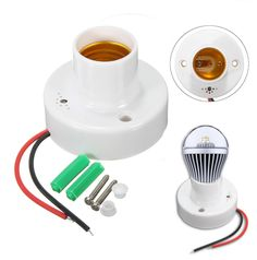 E27 Sound Voice Light Control Delay Sensor Base Lamp Holder Bulb Switch Adapter  Specification: 1. Working voltage: AC110v-250v (50 Hz ) 2. Load power the LED 18W Incandescent 100W 3. Sensitivity: 5 LUX 2 LUX 4. Noise sensitivity: 50 dB 5. Delay time: 30s 6. Sensing range: 5-8m Installation note: 1: Please do not charged operation require professional installation. 2: The product USES the international standard two wire connection mode (as shown) 3: It is strictly prohibited in the case of…