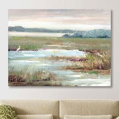Turn any room into a rustic tranquil space with this Early Morning Magic Giclee Canvas Art Print! You'll love how it reminds you on the calm countryside. Easy Watercolor, Watercolor Landscape, Abstract Watercolor, Abstract Landscape, Canvas Art Prints, Painting Prints, Canvas Wall Art, Fine Art Prints, Paintings