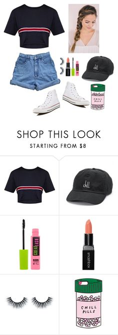 """Chill day"" by gussied-up ❤ liked on Polyvore featuring David & Young, Maybelline, Smashbox, ban.do and Converse"