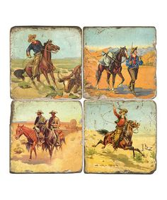 Take a look at this Wild West Cowboys Coaster Set by Studio Vertu on #zulily today!
