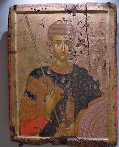 Άγιος Δημήτριος / Saint Demetrius Byzantine Icons, Byzantine Art, Russian Icons, Orthodox Icons, Margarita, Medieval, Mosaic, Images, Photo Wall