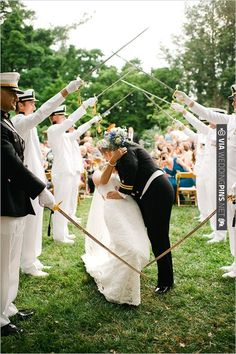 military wedding ceremony | CHECK OUT MORE IDEAS AT WEDDINGPINS.NET | #weddings