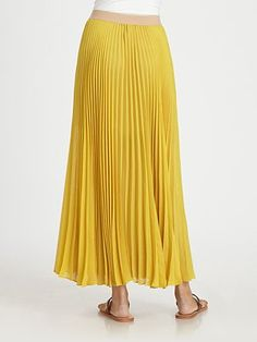 Sunburst Pleated Maxi Skirt