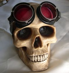 Steampunk Goth Punk SKULL Display  comes in Natural by jadedminx, $18.50