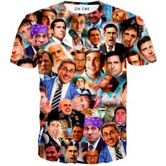 Our Steve Carell t-shirt is hilarious. This t-shirt features a collage of Steve Carell faces from different shows and movies he has appeared in. If Steve Carell would be a little younger we are positi