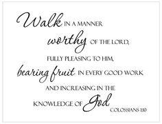 walk in a manner worthy...