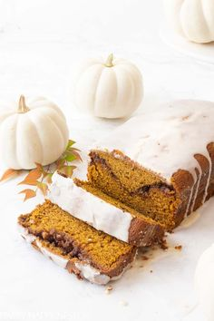 This Moist Pumpkin Bread Recipe has a cinnamon, sugar and nut swirl in the middle and topped with icing. Also, this pumpkin bread is easy to make and yummy. #pumpkin #pumpkinrecipe #dessert #quickbreads #dessertrecipe Best Pumpkin Pie, Moist Pumpkin Bread, Baked Pumpkin, Pumpkin Cookies, Pumpkin Recipes, Pumpkin Deserts, Pumpkin Loaf, Fall Recipes, Yummy Recipes