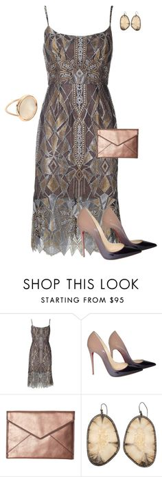 """""""Untitled #810"""" by angela-vitello on Polyvore featuring BCBGMAXAZRIA, Christian Louboutin, Rebecca Minkoff and Ginette NY"""