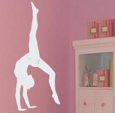 Ginnasta 5pcs/lot balletto ballerino stanza delle ragazze decalcomania della parete decorazione