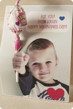 valentines lollipop card
