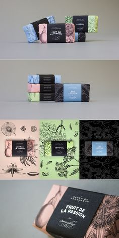 Monsillage. A soap that combines perfumery. #packaging #design